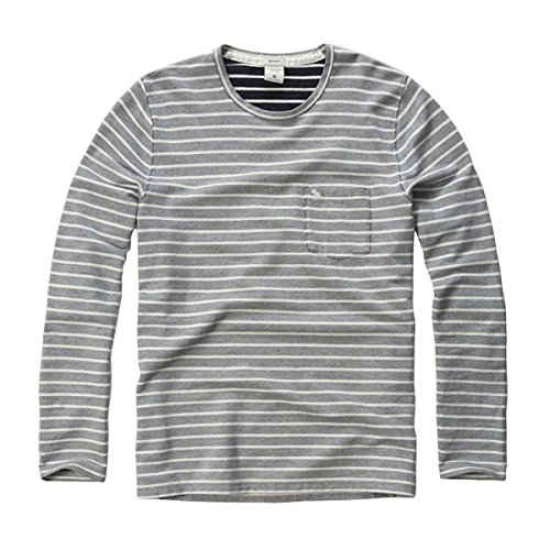 利点鬼ごっこ柔らかい足[アバクロ] Abercrombie&Fitch 正規品 メンズ 長袖Tシャツ STRIPE KNIT TEE 124-236-1357-023 並行輸入品 (コード:4100500239)
