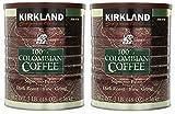 Kirkland Signature 100% Colombian Coffee, Supremo Bean Dark Roast-Fine Grind, 3 Pound (2 Cans)
