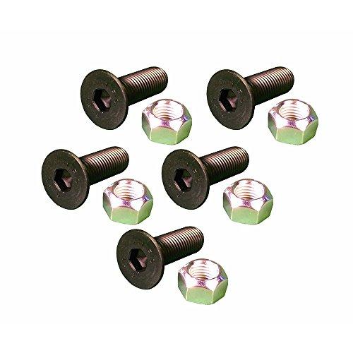 (5) Pack 1592953 8T4778 Caterpillar Machine Screw Flat Heads & Nuts (Caterpillar Machine)