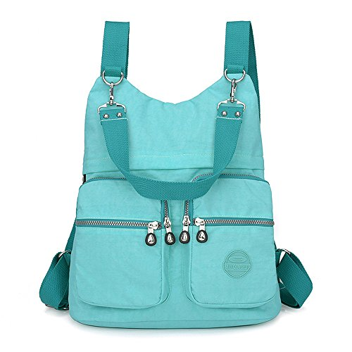 GuiShi(TM) Women Backpack Purse Nylon Large Anti-theft Daypack Lightweight Multipurpose Shoulder Bag (Tiffany -