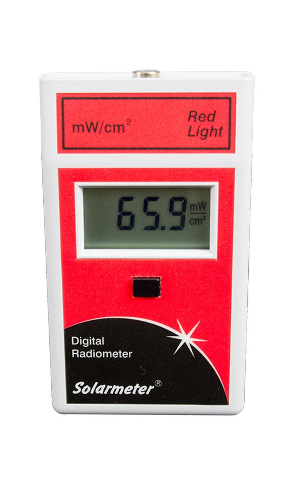 Solarmeter Model 9.6 Red Light Meter - Measures from 577-661nm with range from 0-199.9 mW/cm² Red Light