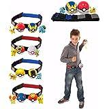 Pokeball Clip N Carry Adjustable Belt Cross 2 random Pokeballs and Pokemon