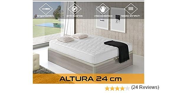 Dormi Premium Cloud 24 - Colchón Viscoelástico, 160 x 200 x 24 cm, Algodón/Poliuretano, Blanco, Matrimonio: Amazon.es: Hogar
