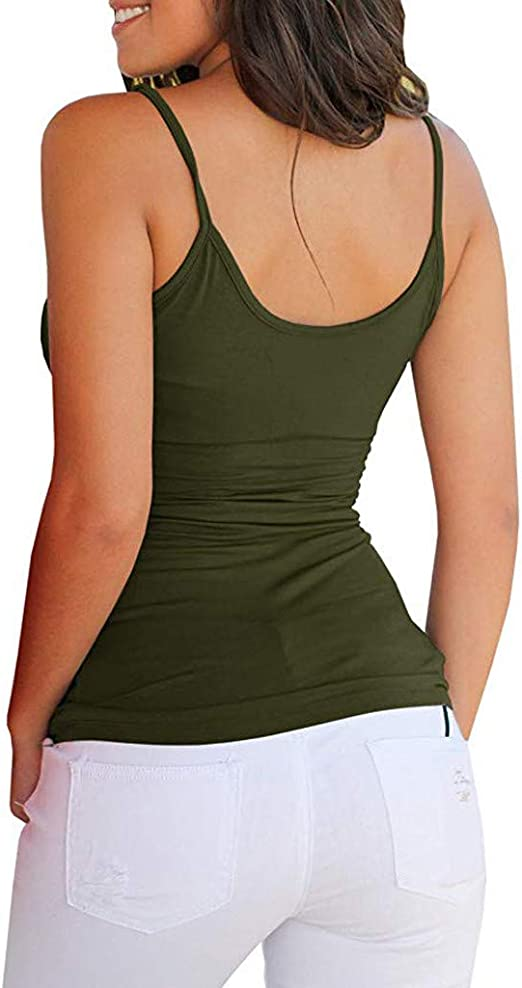 aihihe Womens Tank Tops Summer Casual Cute Criss Cross Hollowout Fitted Camisole Shirts