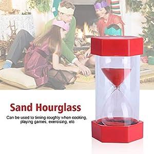 Cristal de Arena de Vidrio Reloj de Arena 3/10/20/30/60 Minutos Temporizador Reloj Decoración de la Oficina en Casa Regalo(30 Minutos Rojo) 4