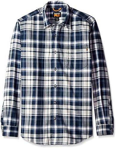 Camisa de trabajo franela R-Value hombre, tela escocesa azul marino, grande: Amazon.es: Ropa y accesorios