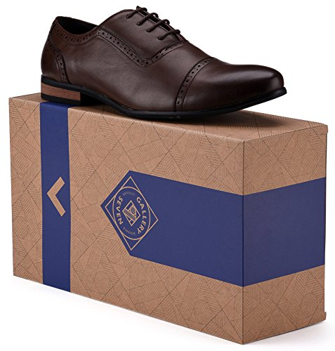 Captoe Design Oxford Shoe Chocolate Brown US-8.5D(M) | UK-41-42 | EU-8 by Gallery Seven (Image #6)