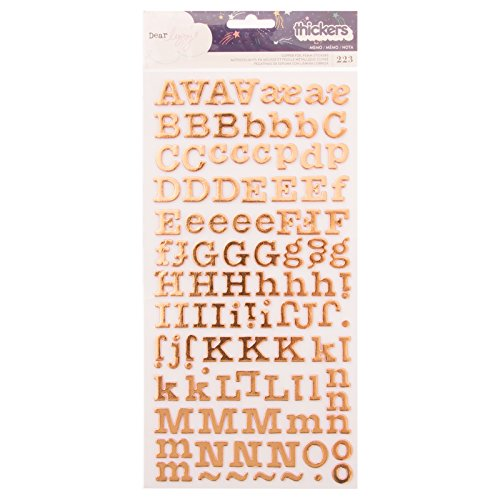 American Crafts 224 Piece Copper Foil Alpha Thickers Dear Lizzy Star Gazer -