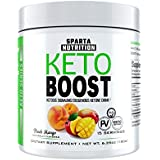 Keto BOOST: Patented Exogenous Beta-Hydroxybutyrate Salts (BHB Powder), Keto Salt Drink for Ketogenic Diet, Ketosis Supplement with Clinically Researched goBHB, Zero Caffeine, Peach Mango, 15 Servings