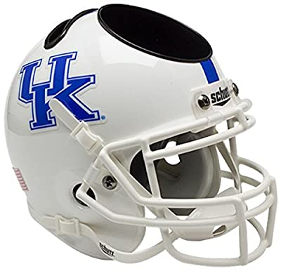Kentucky Wildcats Miniature Football Helmet Desk Caddy - White - NCAA Licensed - Kentucky Wildcats Collectibles