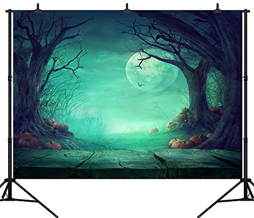 DePhoto 7X5FT(210X150CM) Halloween Theme Pumpkin Lantern Customized Seamless
