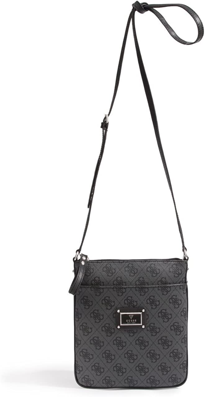 GUESS Women's Scandal Mini Crossbody Coal Crossbody Bag