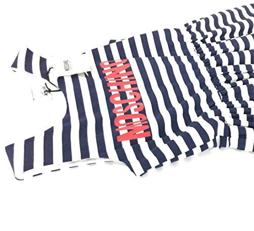maxi Ragazza Abito E Cotone Donna A Bianco Moschino fodera Cotone 100 tessuto Blu Principale Righe 100 TSwqFpd
