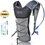 TEC Insulated Hydration Backpack & 2L BPA Free Water Pack for Hiking, Cycling, Running & Outdoor Activities. Compact & Lightweight. Water Stays Cool up to 5 Hours [Includes Cleaning Kit and e-Guide]