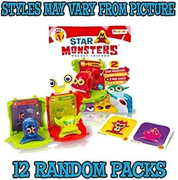 Magic Box Star Monster Mini Capsule Display of 12, Multi Colour