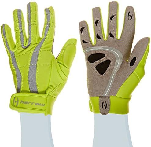 Harrow Rampart Women's Lacrosse Glove, Medium, Lime Punch/Steel