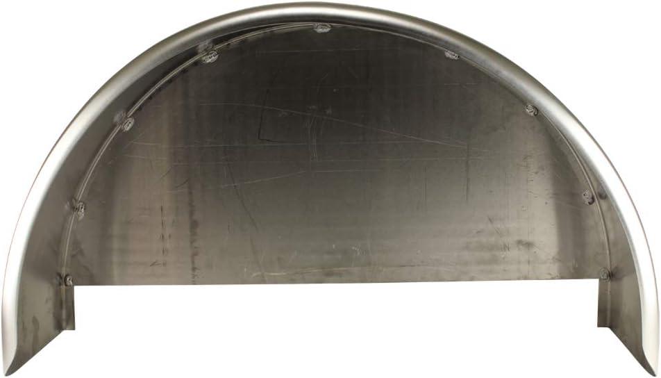 Trailer-Fenders.com 32x10 3//4 Single Axle Aluminum Trailer Fender w//Back Plate Welded in One Pack