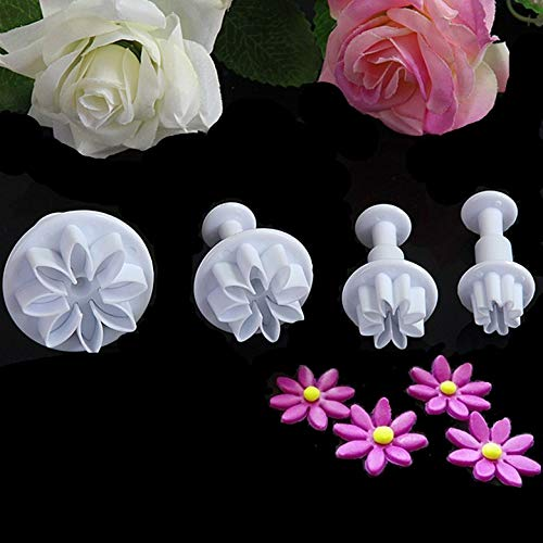 1 Set 4pcs Daisy fondant flowers die sugar flower tools Fondant Cake Mould for DIY tools 020059