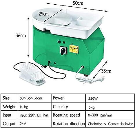 S SMAUTOP T/öpferscheibe 25 cm Keramikformmaschine 350 Watt Elektrische T/öpferscheibe mit Fu/ßpedal und abnehmbarem Becken Einfache Reinigung f/ür Keramik Ton Kunsthandwerk CE zertifizierung
