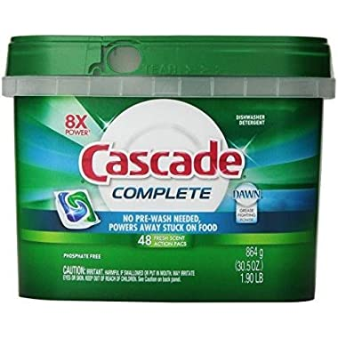 Cascade Complete All-in-1 ActionPacs Dishwasher Detergent Fresh Scent New