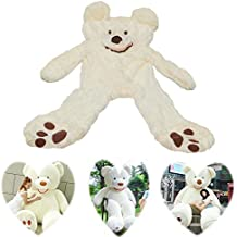 6.5 Feet Super Giant Teddy Bear Outer Cover Animal Toy Huge Bear Shell Purple (Not Filled),Give Girlfriend The Best Gift On Valentine's Day (White, 2m)