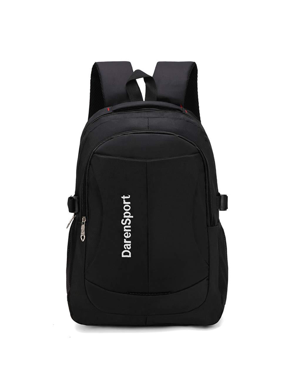防水ラップトップバックパック迷彩メンズレディース男の子スクールバックパック、カジュアルビジネスデイパック旅行バックパックのための大学  black B07Q7R326Z