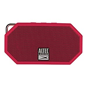 Altec Lansing IMW257-DR Mini H2O Wireless Bluetooth Waterproof Speaker, Floats on Water, Made for Outdoors, Indoors, Beach, Rugged & Strong, Hands-Free Talk, 6 Hour Battery Life, Ultra-Portable