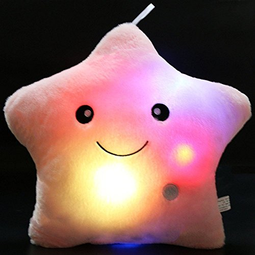 Crazy Lin - Almohada/cojín suave, acogedora y relajante que brilla con una luz LED