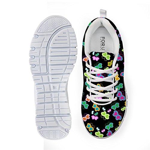 Bigcardesigns Femmes Papillon Mode Florale Chaussures De Course Baskets Lacent Papillon 1