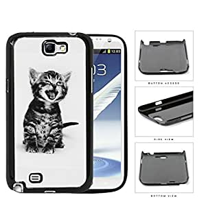 Cute Kitty Cat Portrait Hard Plastic Snap On Cell Phone Case Samsung Galaxy Note 2 II N7100
