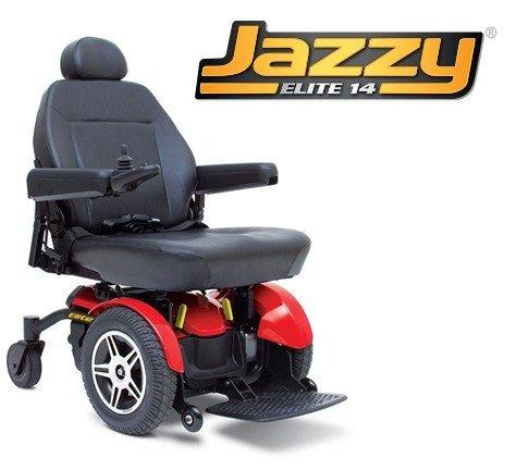 Pride Mobility JELITE14 Jazzy Elite 14 Electric Wheelchair - Red