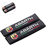 Amooca ABARTH Embroidered Seat Belt Shoulder Cushion Cover Pad