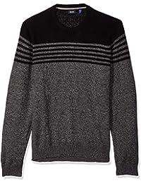 Men's Big Tall Newport Fine 7 Gauge Stripe Crew Sweater