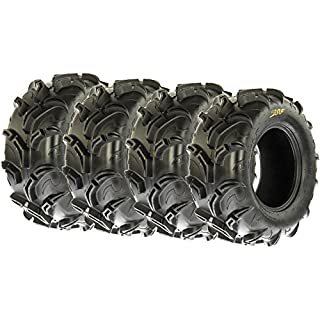 Sale Off SunF Mud Trail Replacement ATV UTV 6 Ply Tires 25x10-12 25x10x12 Tubeless A048 [Set of 4]