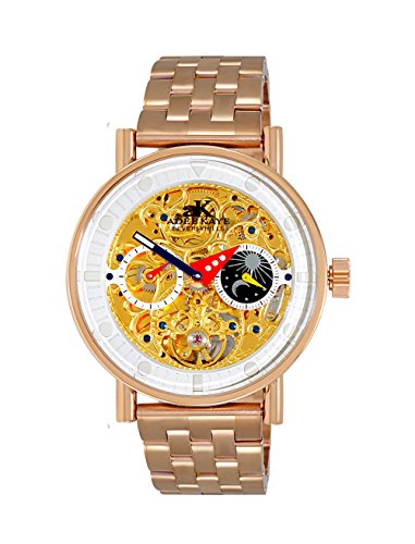 Adee Kaye Men's Stainless Steel Automatic Watch, Color Rose Gold-Toned (Model: AK2266-40_RG)