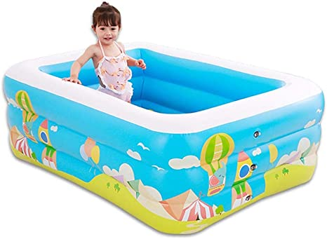 WEIJ Inflatable Swimming Pool Bathtub Kids Rectangular for ...