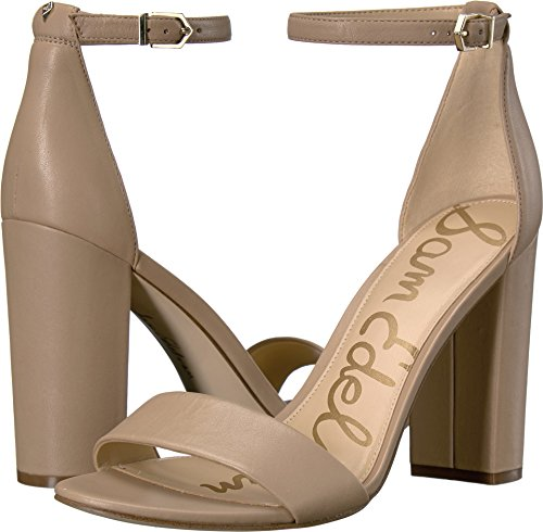 Sam Edelman Women's Yaro Ankle Strap Sandal Heel Classic Nude Leather 4.5 M US - Open Toe Sandals Classic
