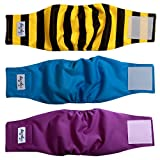 JoyDaog Belly Bands for Small Dog Diapers Male Reusable Puppy Wrap S(Pack of 3)