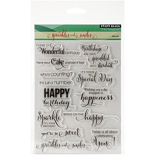 Birthday Stamp Set - Penny Black 30-297 Sprinkles and Smiles Transparent Stamp Set