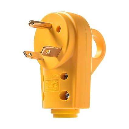 30 Amp Rv Plug >> Amazon Com Mictuning 125v 30amp Heavy Duty Rv Replacement Male Plug