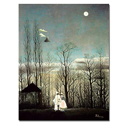 N / A Oil Painting Carnival Night Home Decoration Mural Living Room Canvas Art Printing Frameless 30x40CM