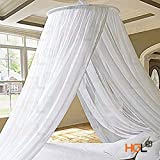 gazebo curtains 12x14 HGL Elegant White Round Bed Canopy Mosquito Net Resort Stylish Princess Bed Canopy Bedroom Curtain Cover Gauze Repeller Princess Mesh 2 Openings