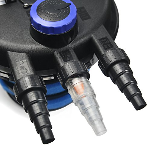 Xtremepowerus 10000 koi pond pressure bio filter uv sterilizer for Koi pond uv sterilizer
