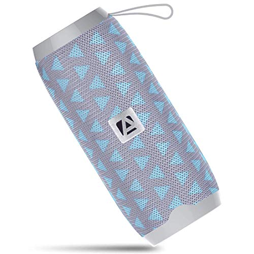 Aduro Portable Bluetooth Speaker, Outdoor Wireless Speaker Built-in Mic, USB Flash Drive and Micro SD Input (Light Blue)