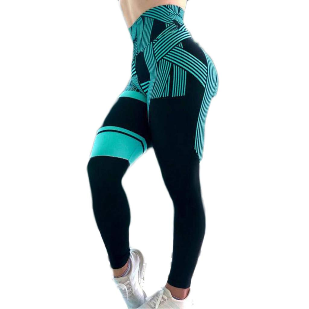 Patchwork Leggings Workout Fitness-RQWEIN Women 3D Printed Sports Gym Yoga Capri Workout Running Pants Fitness Tights Dry Fi