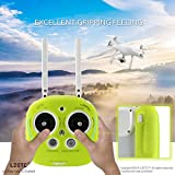 LZETC-Silicone-Skin-Case-Cover-Guard-for-DJI-Phantom-43-Inspire-1Quadcopter-Remote-Controller-Drop-and-Scratch-Resistant-Lemon-Green