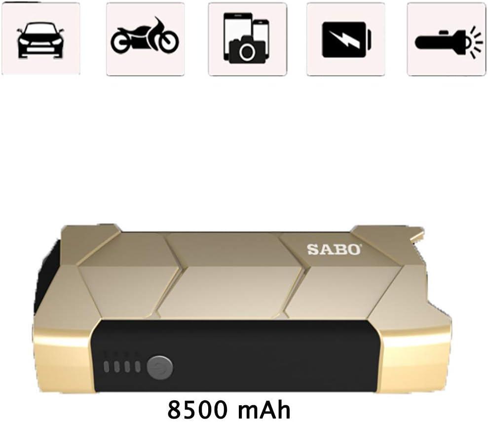 LALEO Arrancador de Coches de Coche (hasta 2, 0L Gasolina), 400A 8500mAh 12V, IP68 Impermeable con Carga Rápida QC3.0 USB Linterna LED Bomba de Aire