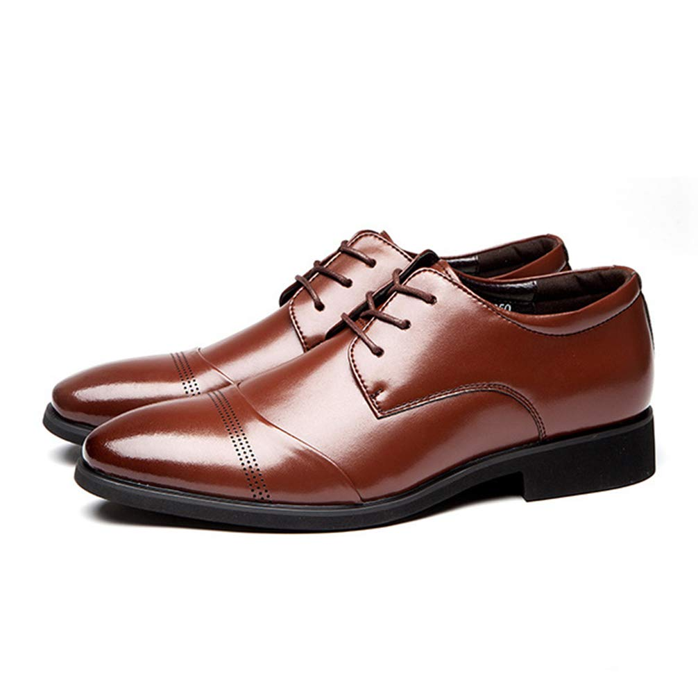 Men Oxford Shoes Pointed Toe Lace Up Business Fashion Casual Dress Shoes