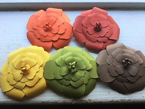 Large Paper Fall Flowers