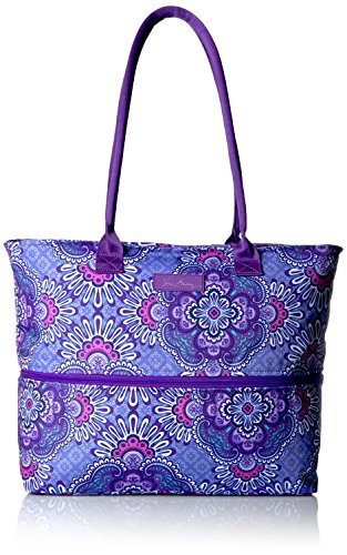 Vera Bradley Lighten Up Expandable Travel Tote Weekender Bag, Lilac Tapestry, One Size